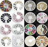 Beauty Rhinestone Resin Acrylic 3D Nail Art Tips Decoration Manicure Wheel JT11