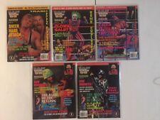 Lot of 5 WWF Magazine 1994 Sept Oct Nov Dec Owen Bret Hart Anvil Doink Macho WWE