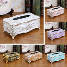 Vintage Tissue Storage Box Home Tissues Container Holder Desktop Organizer Decor