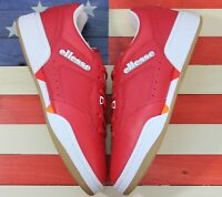Ellesse Piacentino 2.0 Leather AM Tennis Shoes Red White Brown [6-10309] Men's