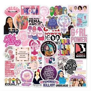 10/50 Pcs/pack Feminism Inspirational Girl Cartoon Equty Stickers For Mixed Kids