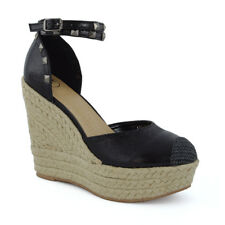 New Womens High Wedge Heel Platform Sandals Ladies Ankle Strap Espadrilles Shoes