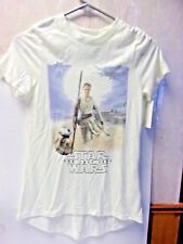 Star Wars Short Sleeve Cream Colored T-Shirt The Last Jedi Size M  658