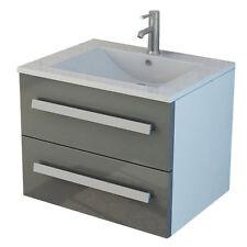 Ensemble de meubles gris plan vasque Arosa lavabo avec armoire nouveaux meubles