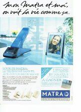 PUBLICITE ADVERTISING 126  1993   téléphone sans fil LOOK de Matra communication