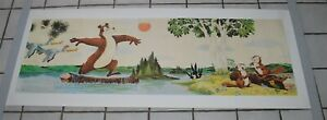 "Vintage Hamms Beer Bear Long Poster Print Sign 60"" x 22"""