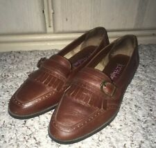 CC HUGHES Leather Wing Tip Style Loafer Style Shoes~Brown~Size 7.5 M