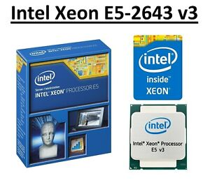 Intel Xeon E5-2643 v3 SR204 3.4 - 3.7 GHz, 20MB, 6 Core, LGA2011-3, 135W CPU