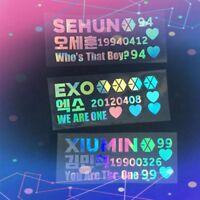 2018 Kpop EXO Lightstick Laser Sticker BAEKHYUN SEHUN KAI Phone Case Stickers