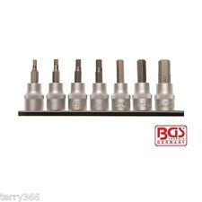 """BGS 5104 3/8""""dr 7pc IMPERIAL AF hex/allen key socket bit set 1/8"""" - 3/8"""" PRO..."""