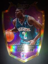Larry Johnson Panini Prizm Purple Select Die-Cut Card
