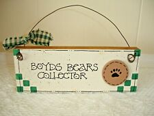 "Boyds Bears Wood Sign ""Boyds Bears Collector"""