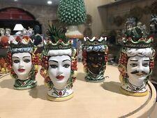 ceramica di caltagirone Teste Di Moro Dipinte A Mano Per Bomboniere