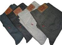 Mens LEVIS 501 Grey Denim Jeans W32 W34 W36 W38