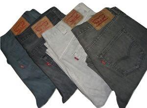 Mens LEVIS 501 Grey Denim Jeans W30 W32 W34 W36 W38 W40