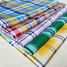 Plaid Checks Printed Tartan Gingham Fabric Like Cotton Prints Upholstery Sew