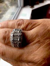 18ct Oro Blanco Diamante Anillo
