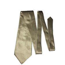 Graham & Lockwood Luxury  Tie Necktie Silk Geometric Gold Handmade In England