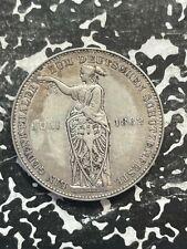 1862 Germany Frankfurt 1 Thaler Lot#JM2826 Silver!