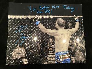 AL IAQUINTA signed 16x20 photo Better Not F Boo me UFC MMA Poster