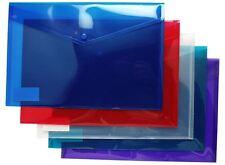 25 Quality A4+ Foolscap Stud Press Wallets Plastic Document Popper Files