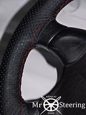 VOLANTE in Pelle Perforata Copertura Per Volvo VNL 780 Dark Red doppia cucitura