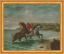 Horses coming out of the Sea Delacroix Horse Riding Animals Turban B a3 00001