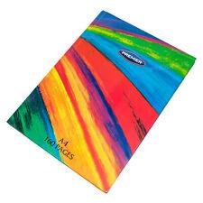 3 x Rainbow A4 Paper Notebooks Hardback 80 Leaf Lined Writing Manuscript Books