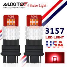 AUXITO 2X 3157 3157R Turn Signal Brake Tail Light Bulb Super Bright Red LED 4157