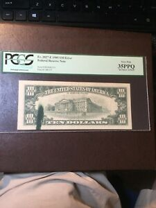 $10 Error Note Fr. 2027-E 1985 PCGS 35 Ink Smear - See Listings For Currency!