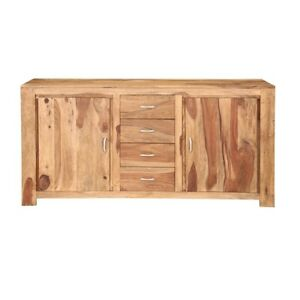 Cromer Indian Solid Wood 4 Drawer Large Sideboard Cabinet (MADE TO ORDER)