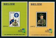 [104863] Belize 1982 75th Anniversary Scouting jamboree 2 Souvenir Sheets MNH