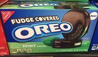 New Oreo Mint Cream FUDGE COVERED 9.9 Oz Fresh Off Shelve