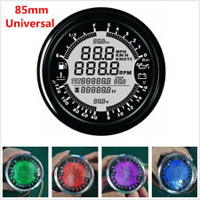85mm GPS Speedometer Tachometer Multi-Function Water Temp/Volt/ Fuel Level Gauge