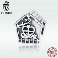 Voroco Halloween 925 Sterling Silver Pendant Charm for Women Bracelet Necklace