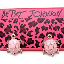 Betsey Johnson Pink Tortoise earrings & free gift