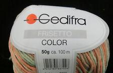 (79,00 €/kg): 500 Gramm Frisetto Color von  Gedifra, Farbe 8802 grün orange#1390