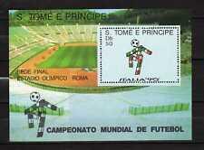 Sao Tomé & Principe : Football World Cup Italia 90 (1989) Minisheet MNH