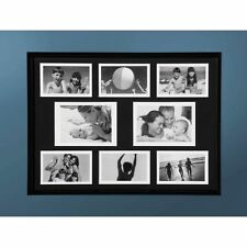 """Collage Photo Frame, Black Plastic, 6 of 4 x 6"""" 2 of 5 x 7"""""""