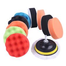 "Colorful 9Pcs/set 7"" inch (180mm) Sponge Buff Polishing Pad Kit For Car Polisher"
