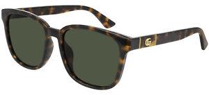 Gucci GG0637SK Havana/Green 56/18/150 men Sunglasses