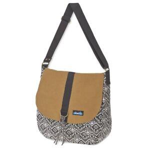 Kavu Wayfare Crossbody Shoulder Bag, One Size Black Batik Adjustable Long Strap