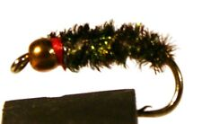 ICE FLIES. Peacock  , BH.  (4-pack). Available in size 8 - 16