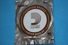 D'Addario Phosphor Bronze Wound .039 Acoustic Singles, PB039