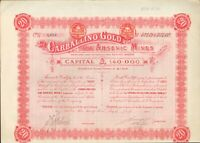 Carballino Gold - Arsenik Mines 20 Shares 1 Pound aus London 1907