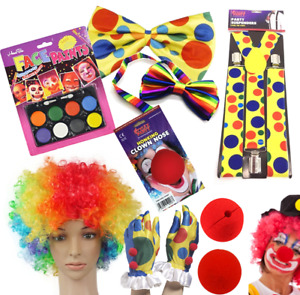 ADULTS CLOWN FANCY DRESS COSTUME ACCESSORIES LOT LADIES CIRCUS ACCESSORY OUTFIT