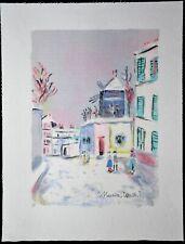 """LITHOGRAPHIE Maurice UTRILLO"""" Paris capitale  ,  Montmartre """""""