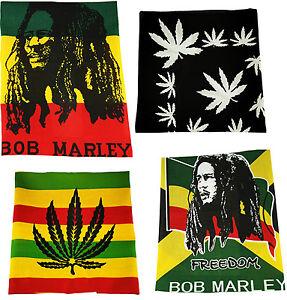 BOB MARLEY FREEDOM Rasta Bandana Head Neck Wrist Face Tie Mask Scarf Bandanna