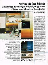 PUBLICITE  1971   SCHOLTES  four à pyrolyse