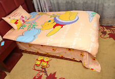 Disney Winnie the Pooh Quilt Cover Set Flat Sheet Pillow Case for Single Double